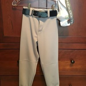 Other - BOYS grey baseball pants/belt and underwear w/cup